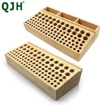 46/98 holes Pine Wooden Leathercraft Rack Stand DIY Tamping Punching Tools Holder Organizer Storing Leather Tool Storage Box