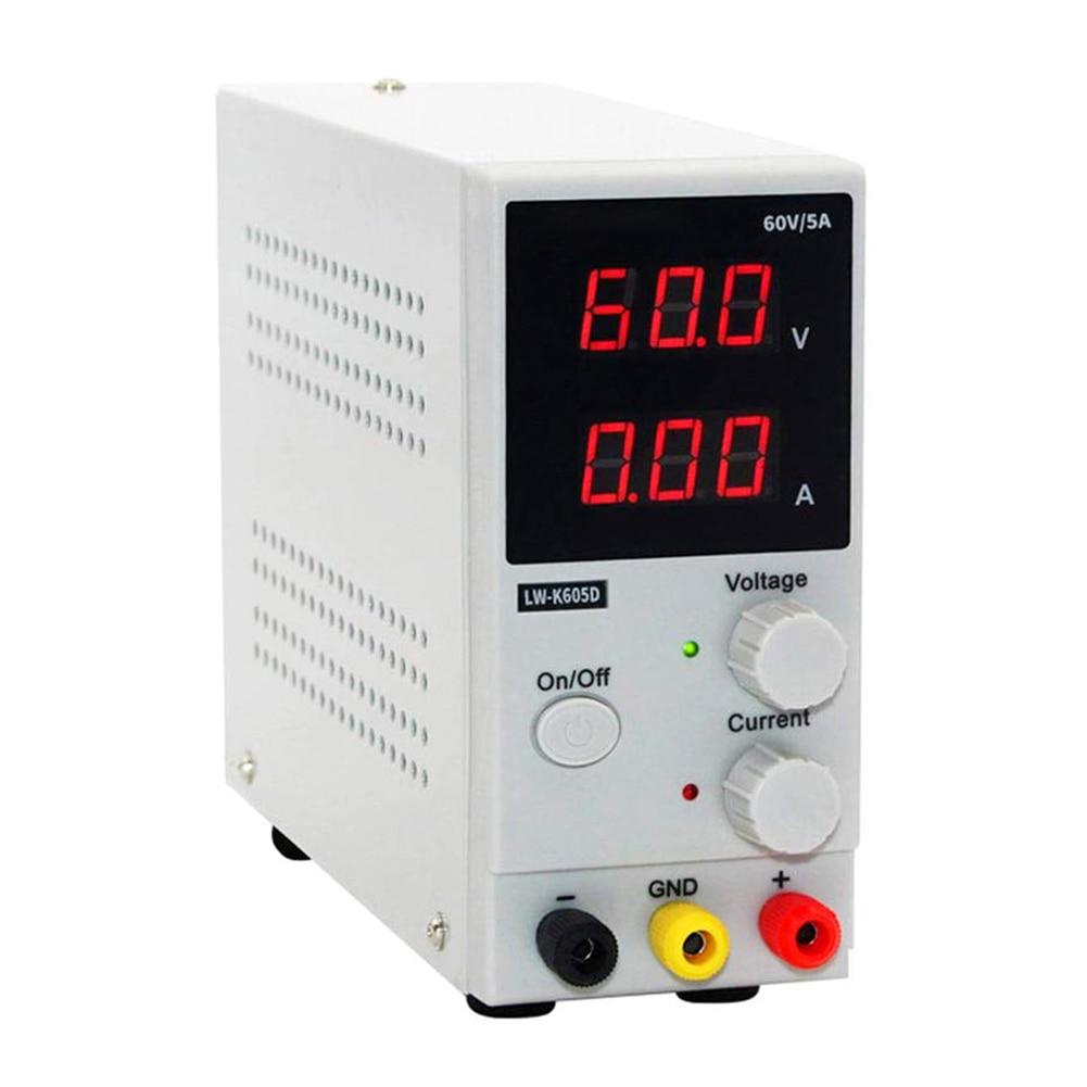 60V 5A светодиодный цифровое Переключение DC Питание Напряжение регуляторы Lab инструмент для ремонта Регулируемый LW K605D 110/220V Источники питания