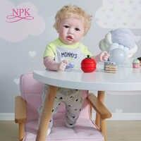 NPK-Muñeca reborn de 55CM y 22 pulgadas para bebé, juguete de baño de muñeca artística coleccionable hecha a mano