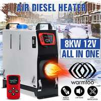 All In One 5000W Air diesels Heater 5KW 12V One Hole Car Heater For Trucks Motor Homes Boats Bus +LCD key Switch+English Remote