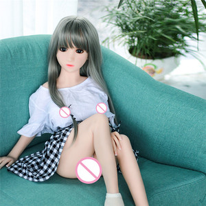 Image 3 - 100cm(3.28ft) Silicone Mini Sex Doll Lolita Cute Maid Japanese Adult Doll Vagina Pussy Anal Oral Sex Toy For Men Boob Silicone