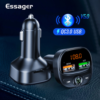 Quick Charge 3.0 USB Car Charger FM Transmitter Handsfree Bluetooth 5.0 Car Kit QC3.0 Fast Car Charger For iPhone Xiaomi image