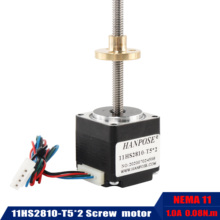 NEMA11 screw motor 11HS2810 T5*2 Lead range screw stepper motor length 250mm200mm300 mm  for mini cnc 3D printer