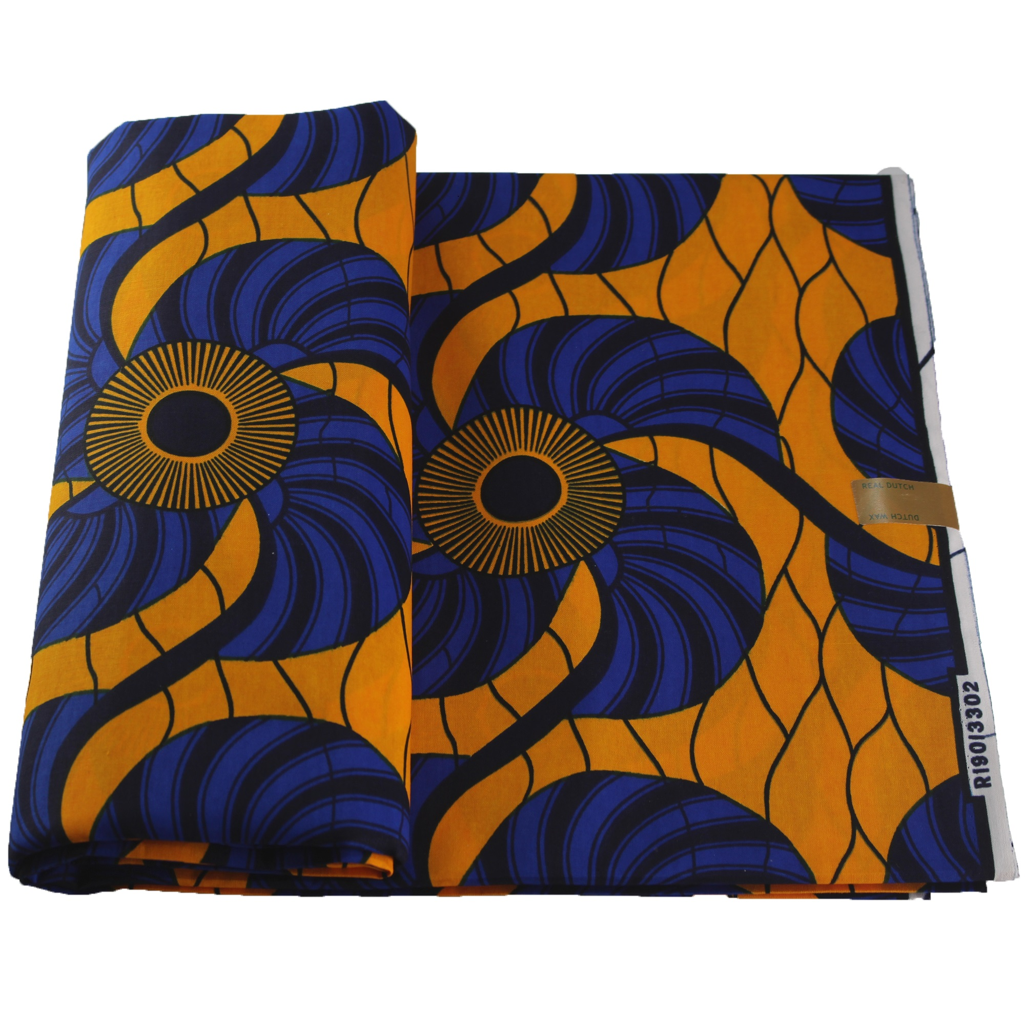 100% Cotton African Sunflower Printed Wax Fabrics Colorful DIY Sewing Fabric 6Yards