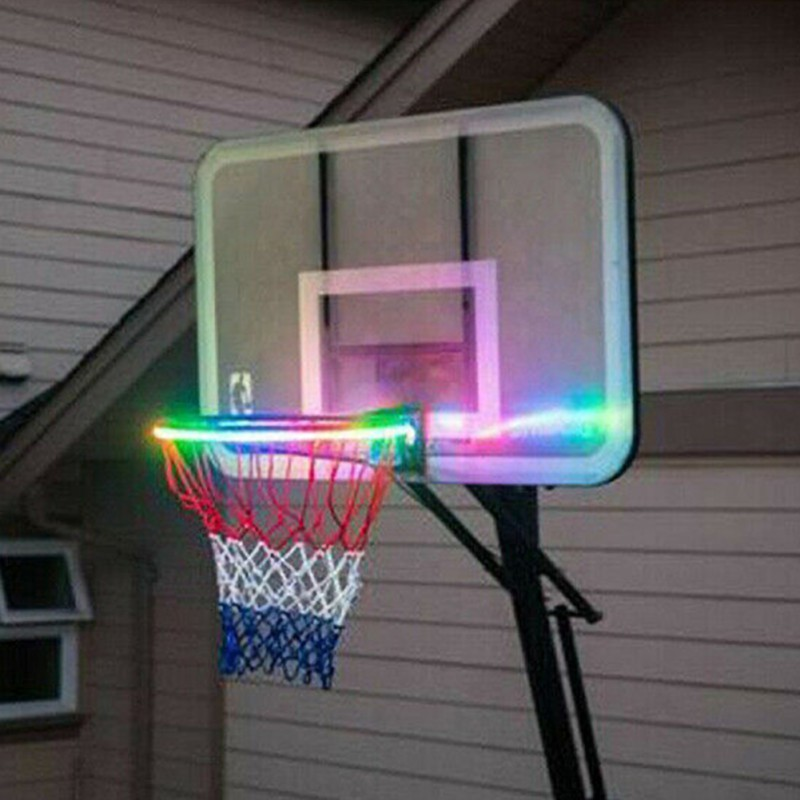 Solar LED Basketball Hoop Light Basketball Rim Playing At Night Accessories