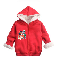 цена на Patrol Dog toddler jacket coats Fur boy girls sweatshirt kids hoodies Marshall Rubble Chase Rocky Winter Warm Solid jongens jas