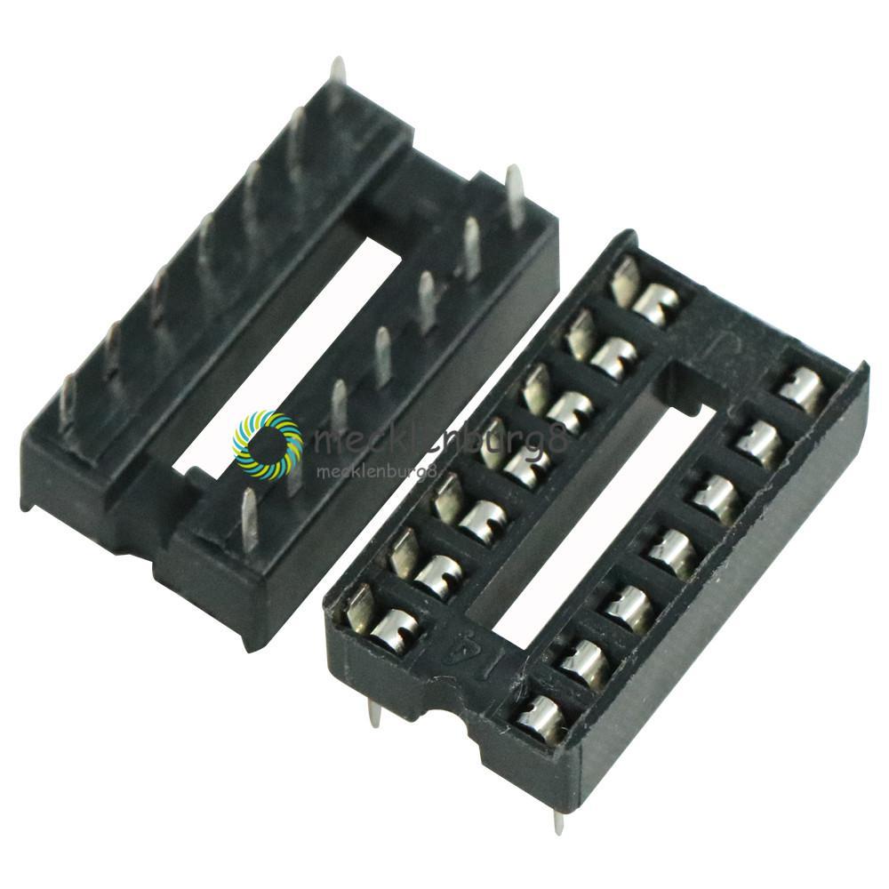 10pcs/Lot  NEW 14pin DIP IC Sockets Adaptor Solder Type 14 Pin