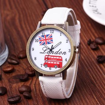 Reloj hombre venda quente denim retro carro bandeira britânica relógio casual relógio unisex relógio de presente de aniversário para mulher 1