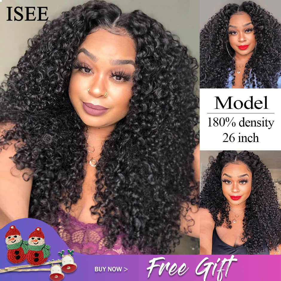 Permalink to Water Wave Lace Front Human Hair Wigs 180% Density ISEE HAIR Lace Closure Wigs For Women Mongolian Water Wave Lace Closure Wigs