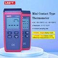 Термометр UT320A UT320D с термопарой, мини-контактный тип, Двухканальный измеритель температуры K/J с подсветкой, автоматическое удержание данных