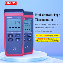 UNI T UT320A UT320D Thermometer Thermocouple  Mini Contact Type Dual Channel K/J Temperature Meter Backlight Data Keep Off Auto