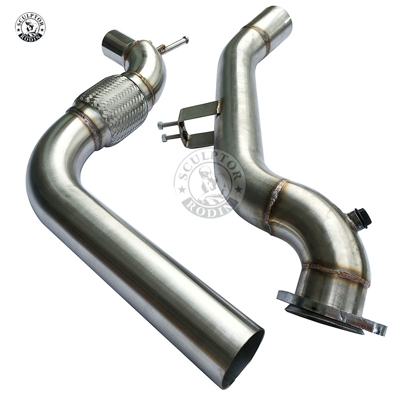 """SS Catless Exhaust Exhaust Downpipe 3/"""" fits 15-16 Ford Mustang Ecoboost 2.3T"""