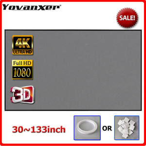 Yovanxer Projector-Screen Beamer Reflective-Fabric 133inch Home 100 130 84 72 120