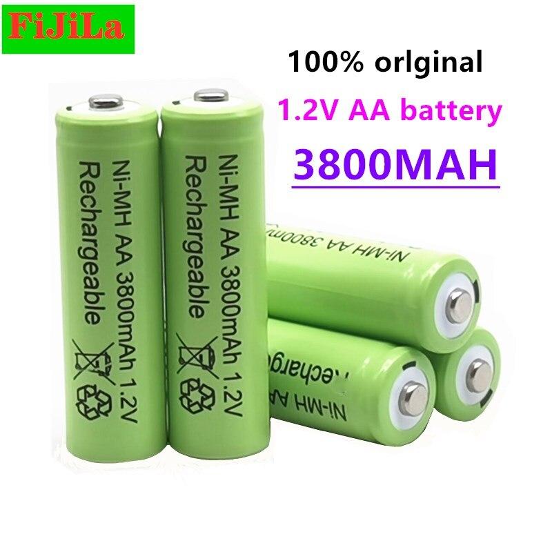 3800 мАч AA 1,2 в аккумулятор Ni-MH, перезаряжаемая батарея для игрушек, аккумуляторные батареи с дистанционным управлением, AA 1,2 в, 3800 мАч батарея