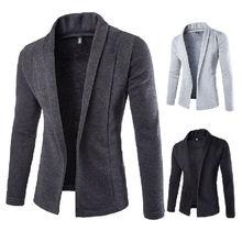 Новинка осени, мужской повседневный приталенный Блейзер без пуговиц, деловой рабочий пиджак, куртка, верхняя одежда, размер M-2XL