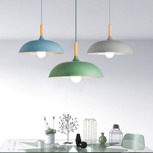 Nordic Big Pendant Lighting Morden Lamp Blue Yellow Bulb and Height Adjustable Green Warm Color