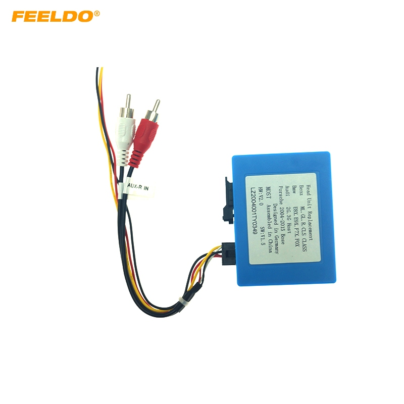 FEELDO 2-Channel RCA Audio AUX-Input To MOST Optic Fiber Amplifier Decoder Converter Fit For Benz/For BMW/For Audi/For Porsche