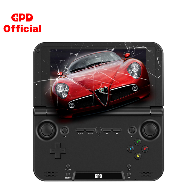 Gpd console de videogame retrô xd plus, console de jogos portátil, tela touch screen de Polegada para android e cpu mtk 8176 4gb/32gb