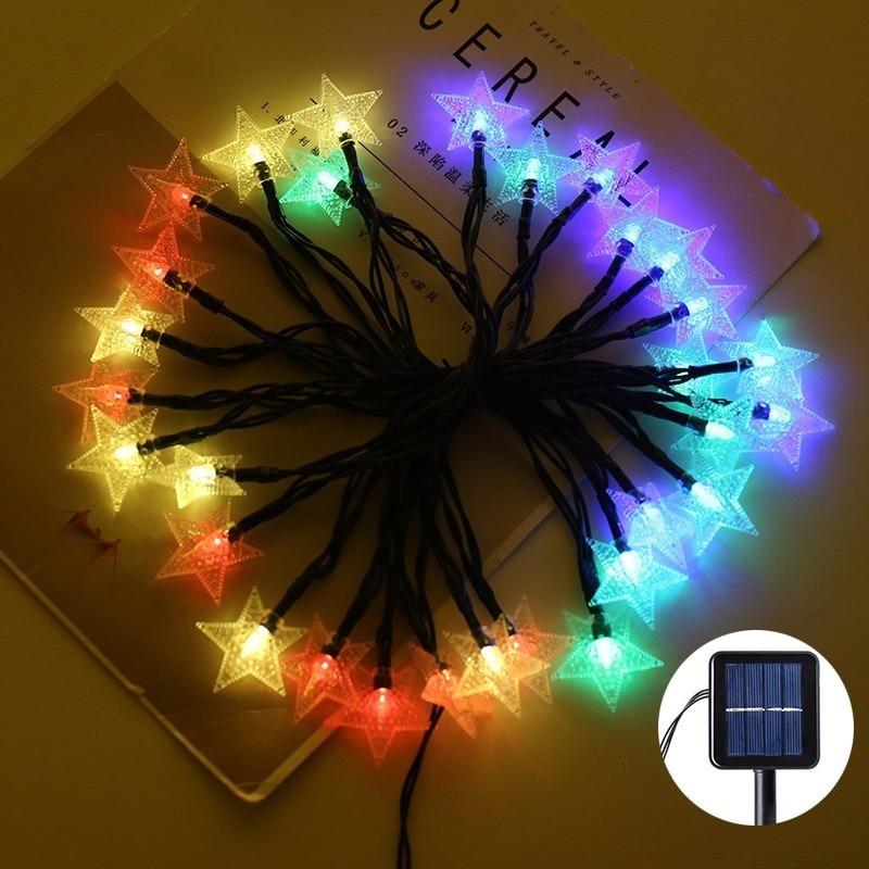 Solar Garland LED String Light Outdoor Garden Star Solar Lighting 8 Modes Christmas Home Decoration Solar Power Lamp Fairy Light