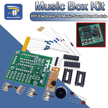 16 caixa de som de música-16 placa 16-tom módulo eletrônico kit diy peças componentes de solda prática kits de aprendizagem para arduino