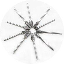 цена на 10pcs Tungsten Steel Dental Burs Bit Tungsten Steel Teeth Grind Heads Teeth Polishing Grinder Drills Burs  Lab Burrs Tooth Drill