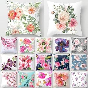 Flower Pattern Decorative Art Cushion Cover Pillow Pillowcase Polyester 45*45 Throw Pillows Home Decor Pillowcover 40844