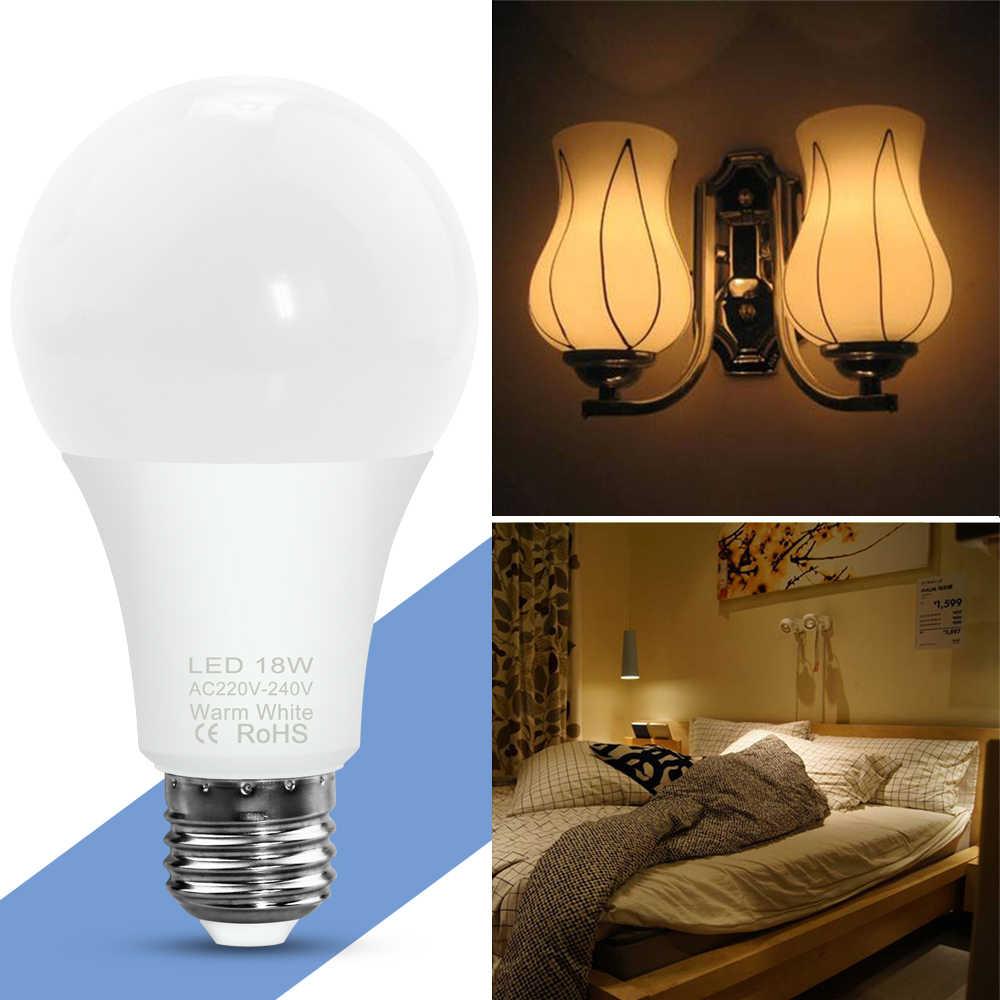 ไฟ LED E27 E14 หลอดไฟ LED SMD 2835 220V 3W 6W 9W 12W 15W 18W 20W สำหรับ Lamparas De Mesa Para El หอพักห้องพักโคมไฟตั้งโต๊ะ LED