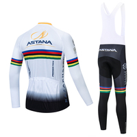 ASTANA 2020 Bike Long Sleeve Team Jersey Cycling Jersey Set Bib Cycling Jersey Mountain Bike Cycling Jersey Jersey Uniform Men|Kits ciclismo| |  -