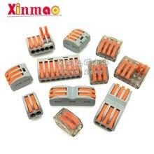 5 uds Cable de conector Mini rápido 221 PCT 222 413 Spl-2 3 cableado compacto Universal Conductor Push-bloque de terminales de China