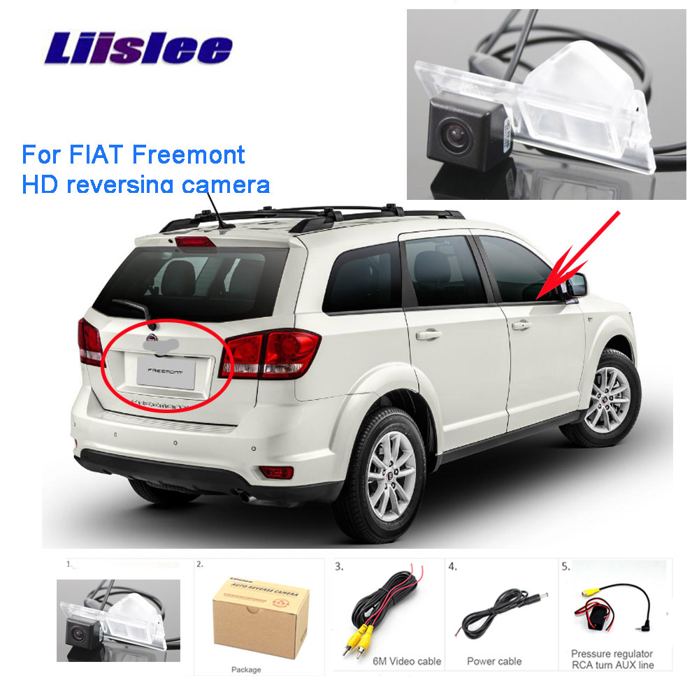 Liislee Parking Rear View Camera For FIAT Freemont 2009~2014 Reverse Backup Camera HD CCD Night Vision Waterproof