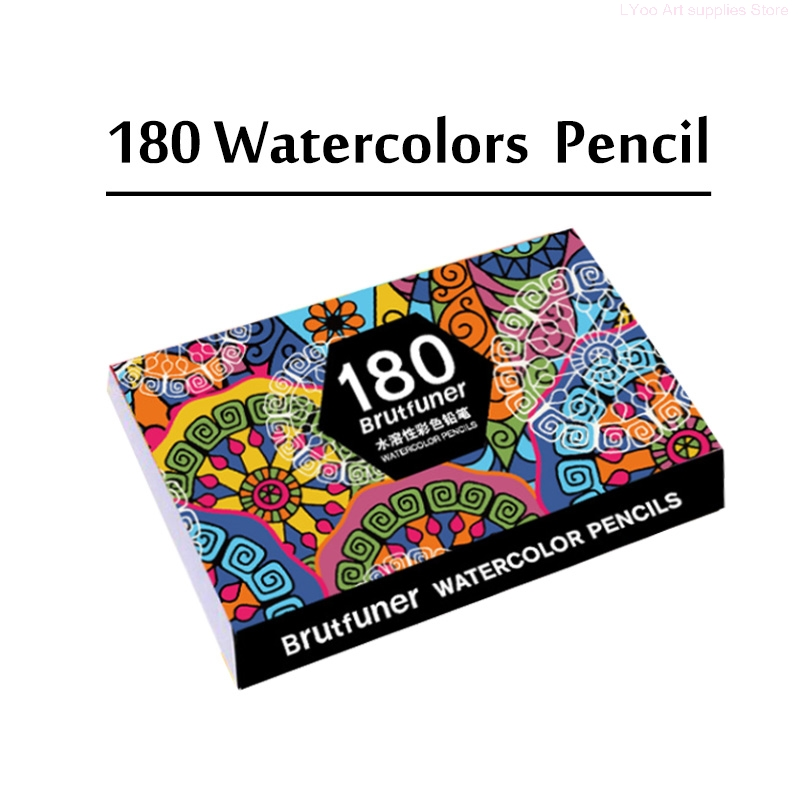 Premium Soft Core 180 Watercolor Pencil Water Colored Pencil Set For Adult Coloring Books Drawing Watercolor