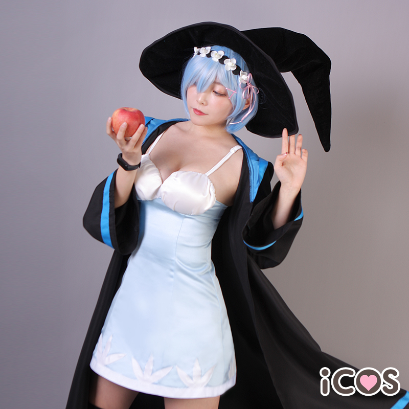 Anime Re:Life In A Different World From Zero Rem Cosplay Costumes Fairy Tale Magic Witch Uniform Suit Female Role Play Clothing