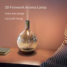 3D Aroma Lamp Fall Winter Glass Humidifier Sleep Helper 7 Colors Timing Baby Bedroom Desktop Christmas Decor Holiday Lighting