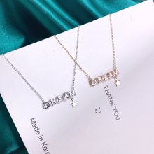 Exquisite Jewelry Real 925 Sterling Silver Charming Pendant Necklaces Lasting Shine Dream Cross Chain Good-looking Zirconia exquisite real 925 sterling silver charming bee pendant necklaces lasting shine cross chain and zirconia good looking daisy