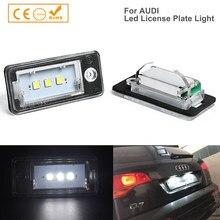 2 uds libre de Error Led luz de placa de matrícula para Audi Q7 A3 A4 A5 A6 A8 R4S RS6 S3 S4 S5 S8 C6 Avant Quattro Carbriolet