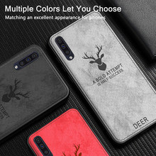 Swtengyue Fabric Case For Samsung Galaxy A50 Case Classic Fabric Bumper Soft Silicone Frame Back Cover For Samsung Galaxy A30 Ca(China)