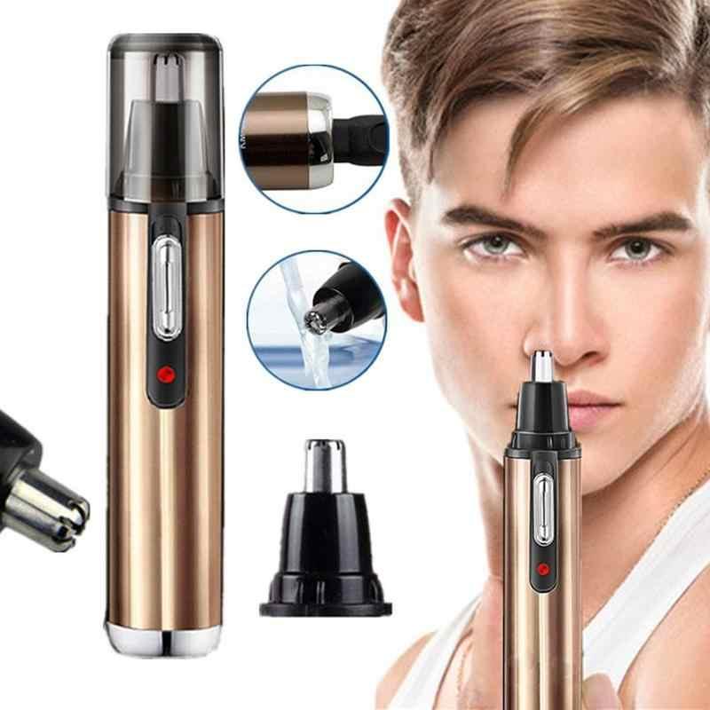 Carregamento nariz aparador de pêlos reparação nariz corte de cabelo nariz faca de barbear nariz cuidado seguro ferramenta de corte de cabelo