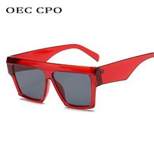 OEC CPO  Oversized Women Sunglasses Ladies Vintage Gradient Square Men Luxury Acetate Glasses Oculos O67