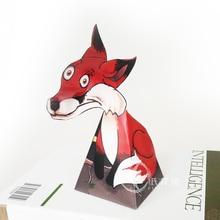 Craft-Toys Paper-Model Kids DIY 3D Adult Cute Red Mini ER-063 Fox-Ornaments Optical-Illusions