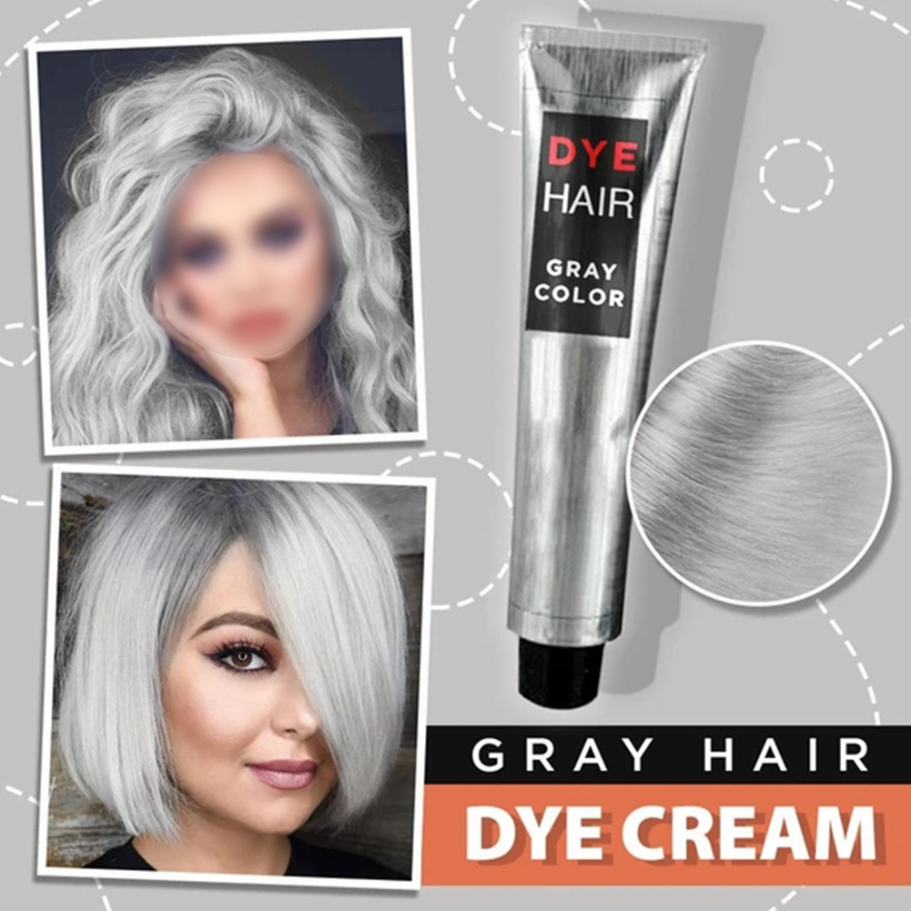 100ml Natural Hair Dye Cream For Beginners Universal Punk Style Party Permanent Smooth Professional Smoky Gray Home Salon L0702 5