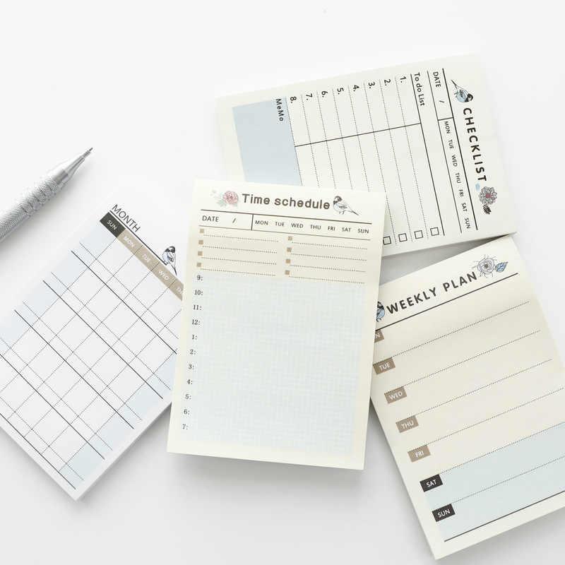 Mignon Kawaii Portable cahier de poche hebdomadaire mensuel livre Agenda Agenda pour enfants fournitures scolaires quotidiennes cahier planificateur de travail