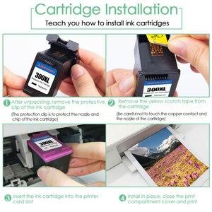 Image 5 - Compatible 300XL Ink Cartridge Replacement for HP 300 XL HP300 Deskjet D1660 D2560 D5560 F2420 F2480 F4210 F2492 Printers 2PCS