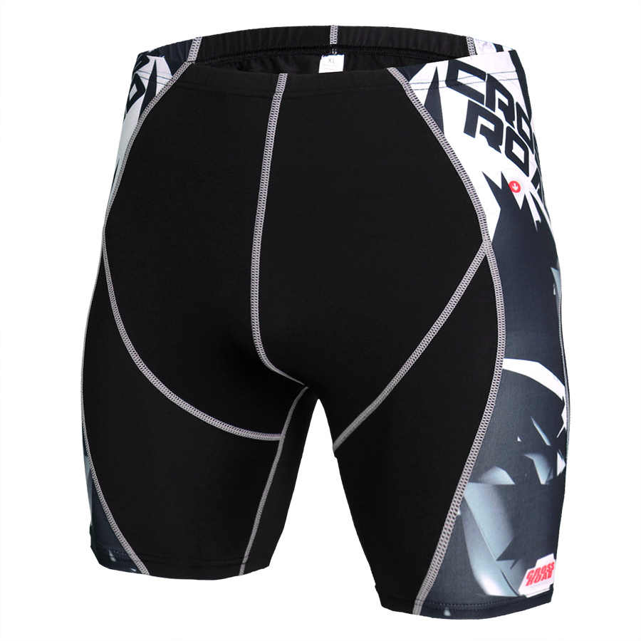 Compression Shorts Men Print Quick Drying Training Exercise Jogging Training Fitness Compression Gym Shorts Gym Men Bottom