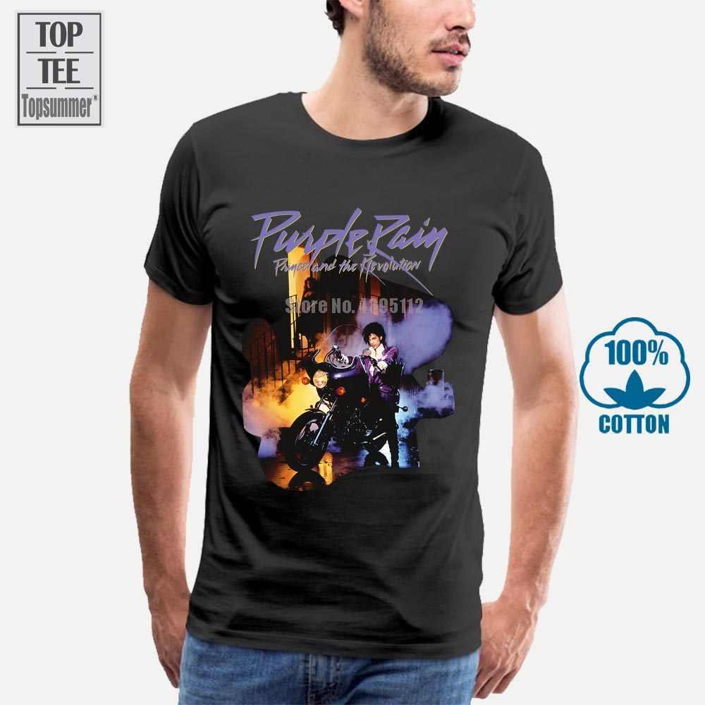Prince PURPLE RAIN T Shirt Funny Cotton Tee Vintage Gift For Men Women