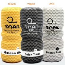 Oral Vagina Anal Sex Toys for Men Pocket Pussy Male Masturbators Soft Tight 3 Styles Mouth Vaginal Anus Snail Aircraft Cup(China)