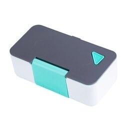 ELEG przenośne pudełko na lunch uchwyt na telefon kuchenka mikrofalowa pudełko na lunch pudełko na lunch kwadratowy pojemnik na żywność z tworzywa sztucznego w Pudełka śniadaniowe od Dom i ogród na