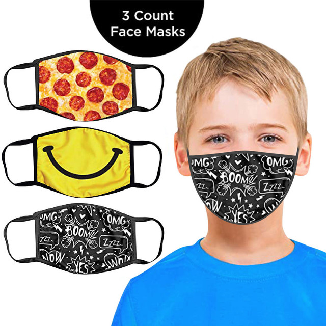 3PC Kids Printed Masks Washable And Reusable Masks For Protection For Adults Scarf Flag Bandana#3 2