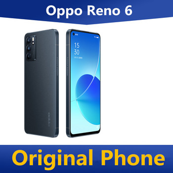 """DHL Fast Delivery Oppo Reno 6 5G Cell Phone 6.43"""" 90HZ OLED 64.0MP 65W Super Charger Screen Fingerprint OTA Dimensity 900 GPS 1"""