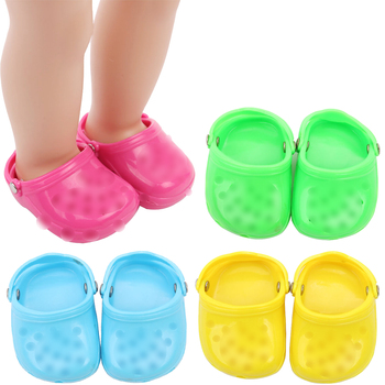 18 inch Girls doll shoes casual beach shoe sandals American doll shoes newborn accessories Baby toys fit 43 cm baby s33 недорого