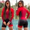 Kafitt triathlon terno conjuntos de camisa de ciclismo feminino uniforme manga longa skinsuit macacão macaquinho ciclismo feminino 6